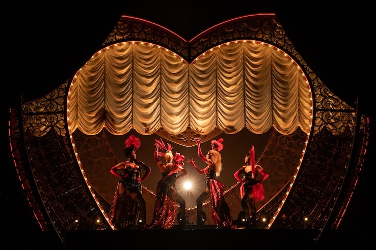 moulin rouge musical on broadway on stage photo